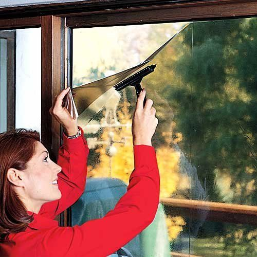 """Window Tint Film by Unknown. $14.89. Cut to custom fit any non double pane window. Film protects home from damaging light. Film clings with static electricity, instantly. Reusable. Vinyl, 18 x 64. Reduces electric bills during hot months. Window tint film converts windows into anti-glare, reflective shades. Film clings with static electricity, instantly. """"Smoke"""" film protects home from damaging light, reduces electric bills during hot months. Cut to custom fit any n..."""