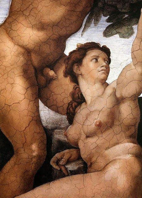 Λεπτομέρεια, Το πρώτο αμάρτημα και η εκδίωξη από τον κήπο της Εδέμ Μιχαήλ Άγγελος (1510)