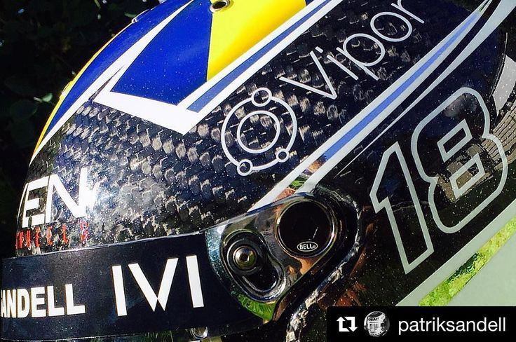 #Repost @patriksandell... Sneak peak of my new @bellracingusa helmet painted by @360gfx_com that I will use for the reminding part of @redbullgrc 2016... Stay tuned this week for an extreme @bryanhertarallysport makeover! #Rallycross #redbullgrc #bellracing #IVIVision #thevipordifference #AreYouDriven #carbonfiberlovers #helmetpaint #helmetdesign #bellhelmets #carbonfiber #kolfiber #hjälmlack