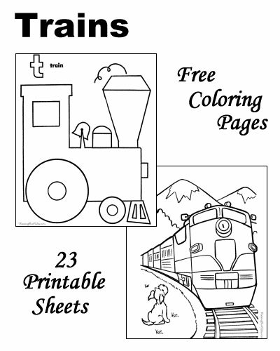 Train coloring pages!