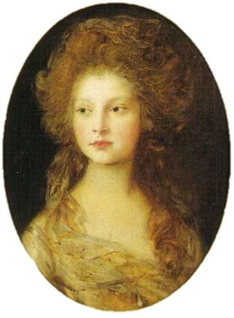 Elizabeth, Princess of the United Kingdom and of Hanover; by Sir Thomas Gainsborough, c. 1782. She was the daughter of King George III of Great Britain. She was the wife of Frederick VI, Landgrave of Hesse-Homburg.