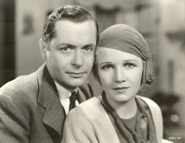 """Robert Montgomery and Ann Harding for """"When Ladies Meet"""" (1933)."""