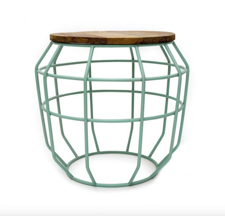 Pixel sidetable in pastel mint color from Label51