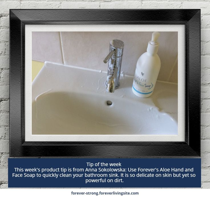 Tip of the week   This week's product tip is from Anna Sokolowska: Use Forever's Aloe Hand and Face Soap to quickly clean your bathroom sink. It is so delicate on skin but yet so powerful on dirt.     http://link.flp.social/RevqFi