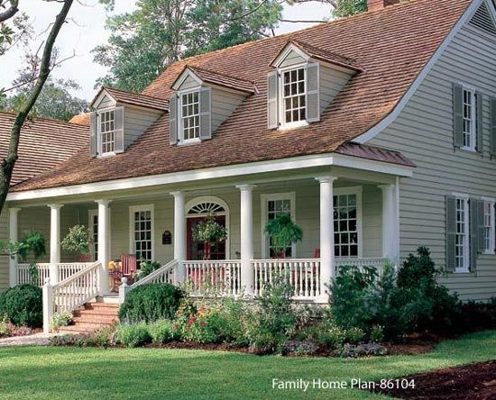 Small porch designs can have massive appeal front Portico on cape cod house
