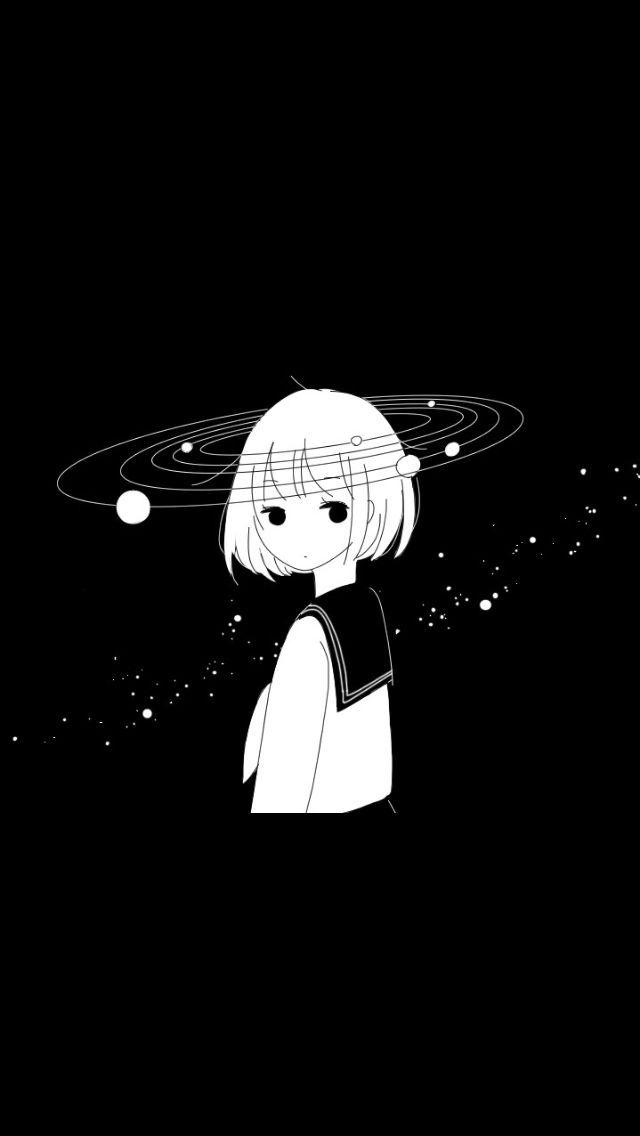 7 Anime Aesthetic Dark Lockscreen Sketsa