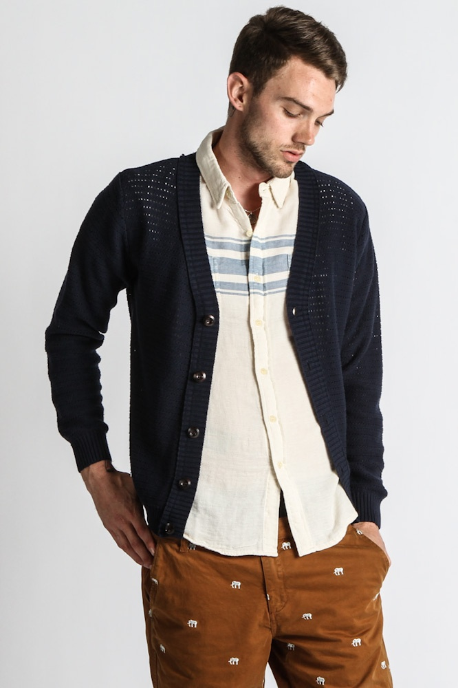Publish - Men's Benito Cardigan (navy) - Publish