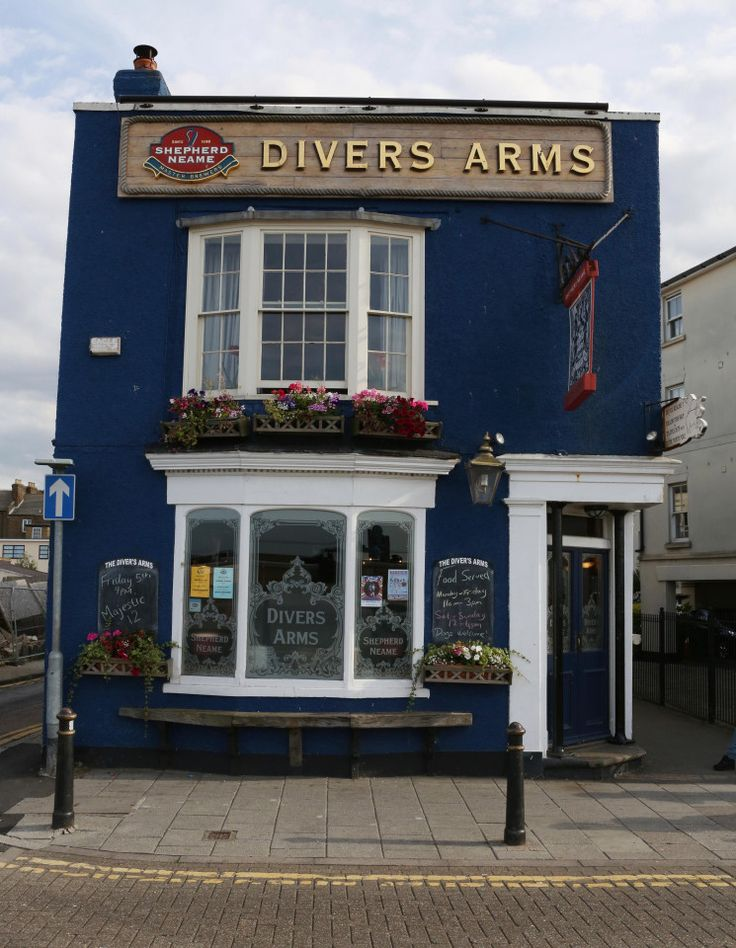The Divers Arms, Herne Bay, Kent. England. This pub is located along the seafront with diving memorabilia lining the walls.  Nice boozer when you have a day out at the seaside.