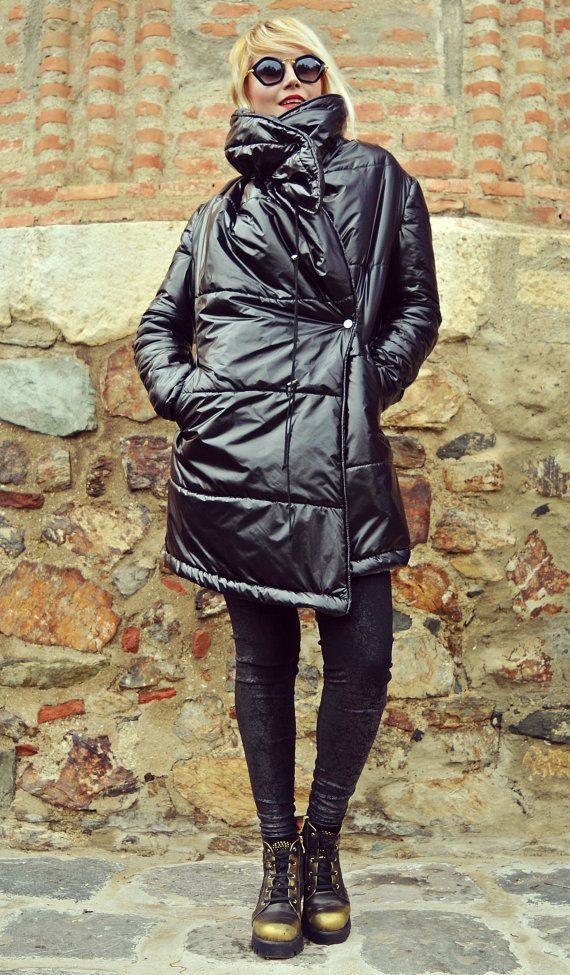 Extravagant Black Waterproof Jacket / Black Fleece Polar by Teyxo