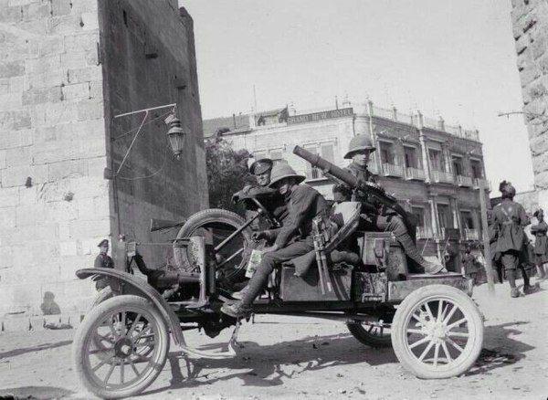 Британские солдаты в Газе, Палестина, Первая мировая война.