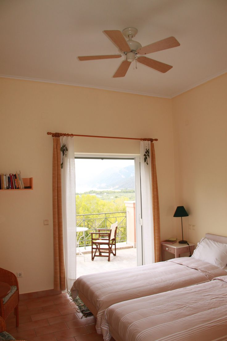Room on the first floor with breath-taking view. Books instead of TV. #ecofriendly #relax #elonashotel