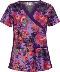 UA Butterfly Dream Purple Parfait Print Scrub Top Style #  UA863BFD  | Radiant Orchid