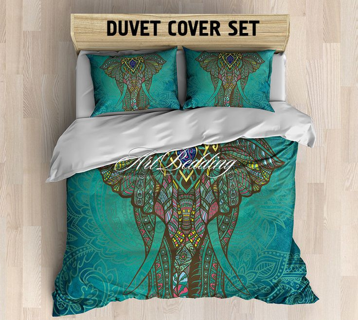 Bohemian bedding, Bohemian queen / king / full / twin bedding, elephant ethno duvet cover, Bohemian duvet cover set, bohemian duvet cover de ArtBedding en Etsy https://www.etsy.com/es/listing/252928196/bohemian-bedding-bohemian-queen-king