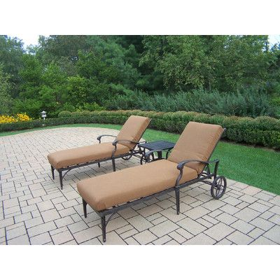 Darby Home Co Vandyne 3 Piece Chaise Lounge Seating Group Set