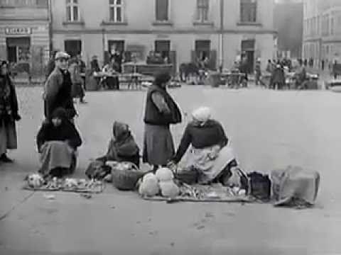 סרטון נדיר: חיים יהודים בפולין לפני מלחמת העולם השניה .ŻYDZI W STARYM KR...