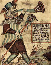Heimdall (de Heimdallr en vieux norrois qui signifie peut-être « pôle du monde ») est un dieu de la mythologie nordique. Il est le gardien du pont Bifröst (l'arc-en-ciel qui sépare Ásgard des mondes inférieurs) et a pour charge de souffler dans Gjallarhorn si un danger menace Ásgard. De manière comparable au dieu latin Janus, il est un dieu des commencements. Il engendre la société avec ses trois classes différenciées. Il est le dieu de l'ordre primordial.