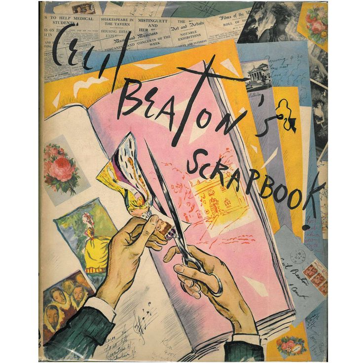 Cecil Beaton's Scrapbook   From a unique collection of antique and modern books at https://www.1stdibs.com/furniture/more-furniture-collectibles/books/