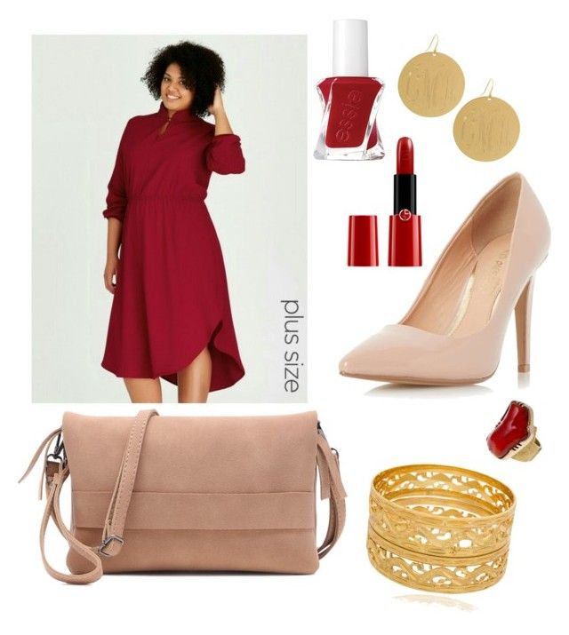 """""""Ravishing red"""" by syddeon on Polyvore featuring Dorothy Perkins, Giorgio Armani and Essie"""
