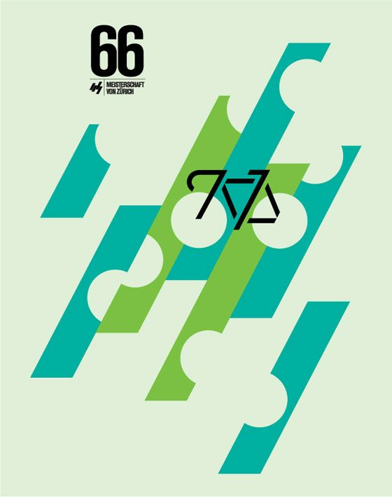 Vintage posters by Caleb Kozlowski, Design Director of San Francisco's Hybrid Design #minimalist #vintage #bike
