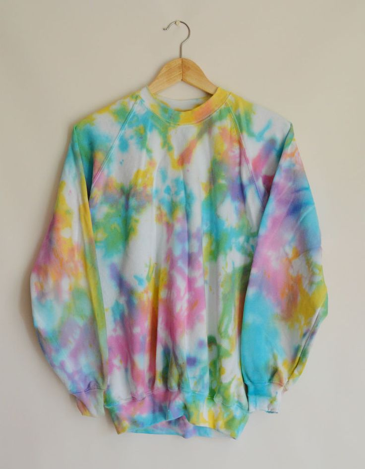 Tie Dye Jumper Sweater Sweatshirt Hipster Grunge Summer Festival 8 10 12 14 in Clothes, Shoes & Accessories, Women's Clothing, Hoodies & Sweats | eBay