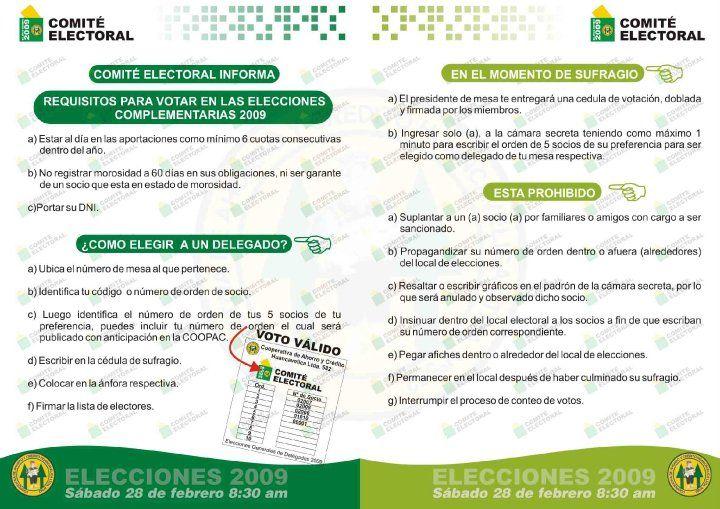 Cartilla Electoral -  Cooperativa