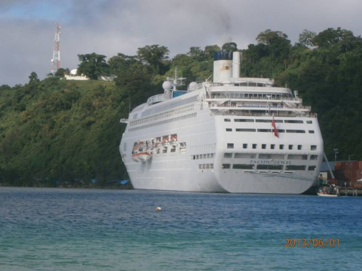 Pacific Jewel docked in Port Villa