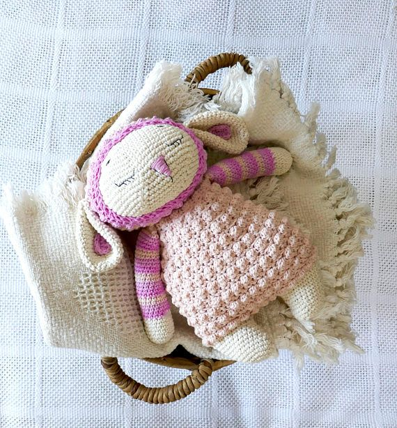 READY TO SHIP newborn gift cotton crochet lamb crochet toy