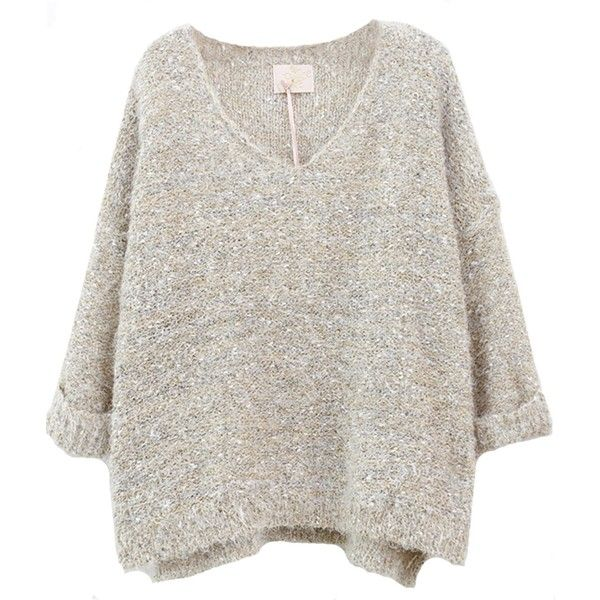 Shop the latest styles of Sheinside Beige Long Sleeve V Neck Mohair Sweater (One-Size, Beige) at Amazon Women's Clothing Store. Free Shipping+ Free Return on e…