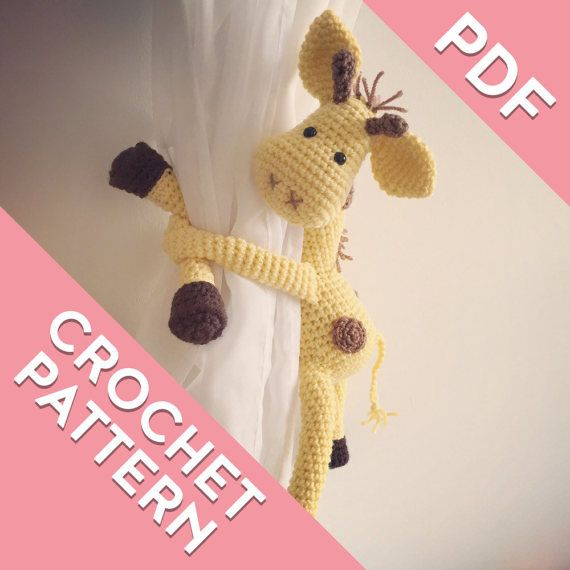 Giraffe Crochet Curtain Tie Back