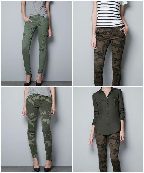 pantalones militares mujer bershka - Buscar con Google