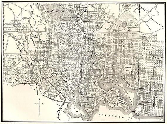 Best 25 Baltimore map ideas on Pinterest  Baltimore Tourist map