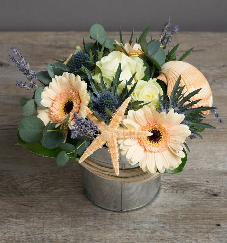 Fresh Flowers Delivered - 'By the Seaside'  Little Flower Bucket by The Flower Studio  Price:£25.99 Amazon.co.uk