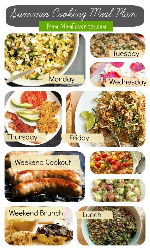 Summer Cooking - A Weekly Meal Plan Collection. Recipes for Bavarian Potato Cucumber Salad, Orzo Veggie Fritters, Seafood Lasagna, Portobello Mushroom Pizzas and more!