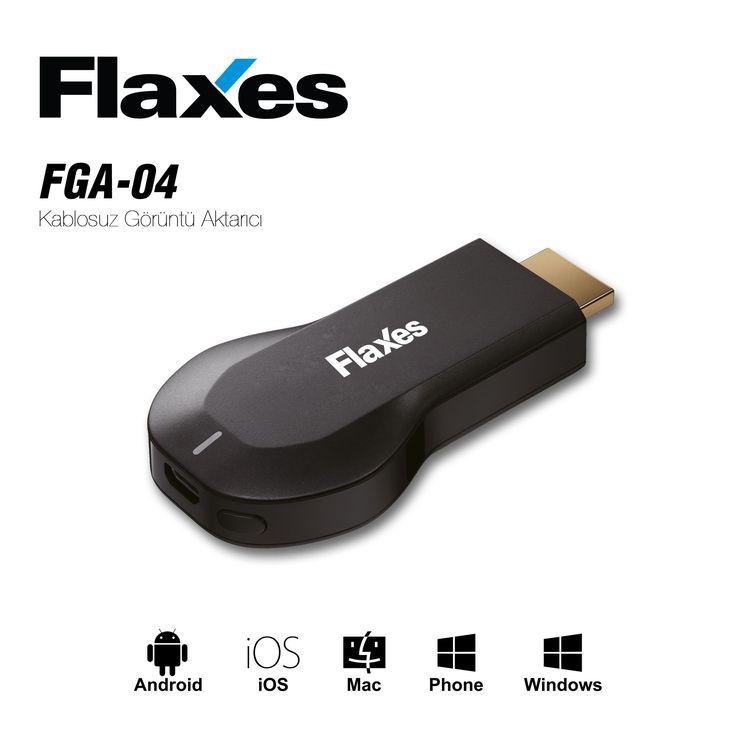 FLAXES FGA-04 KABLOSUZ ALTIN UÇ HDMI GÖRÜNTÜ VE SES AKTARICI