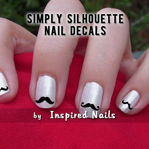 I mustache if you like my nails?