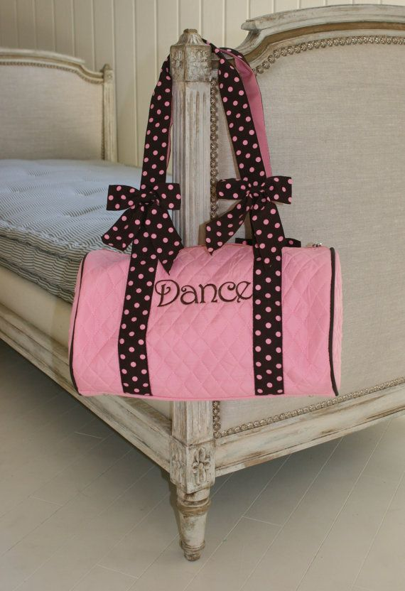 Pink and Brown Dance Bag
