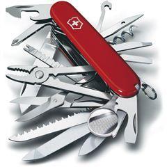 Navaja Swiss-Champ. Práctica navaja suiza de bolsillo con 33 funciones que resulta idónea para cualquier eventualidad.