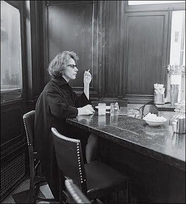 Woman at a Counter Smoking, N.Y.C., 1962 #DianeArbus