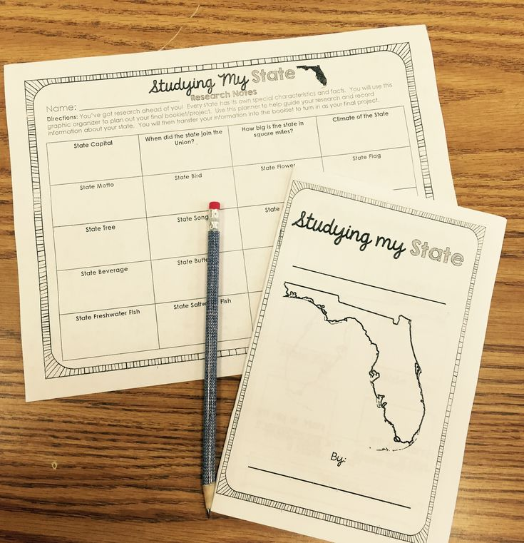 State History Project for your state. Students research the symbols and history of the state in a booklet form