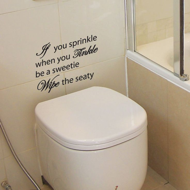 If You Sprinkle Bathroom Wall Quote Art Stickers Wall Decals US $5.29   5.59