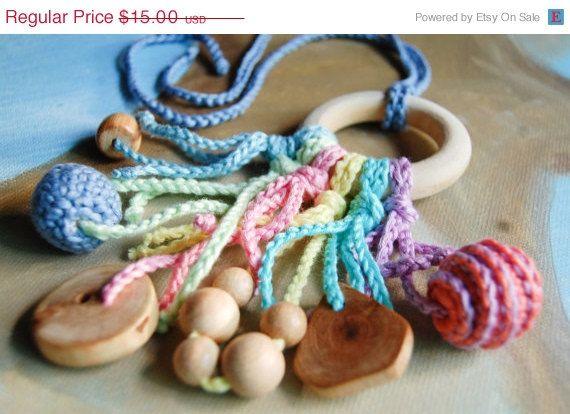 Teething Toy teether by SNORKOVNA от Snorkovna на Etsy 15$