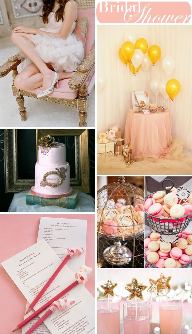 bridal shower idea for the bride who loves pink bridal showers bridal showers and gold bridal showers