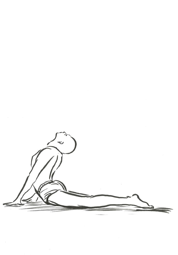 drawing pose cobra yoga bhujangasana drawings poses
