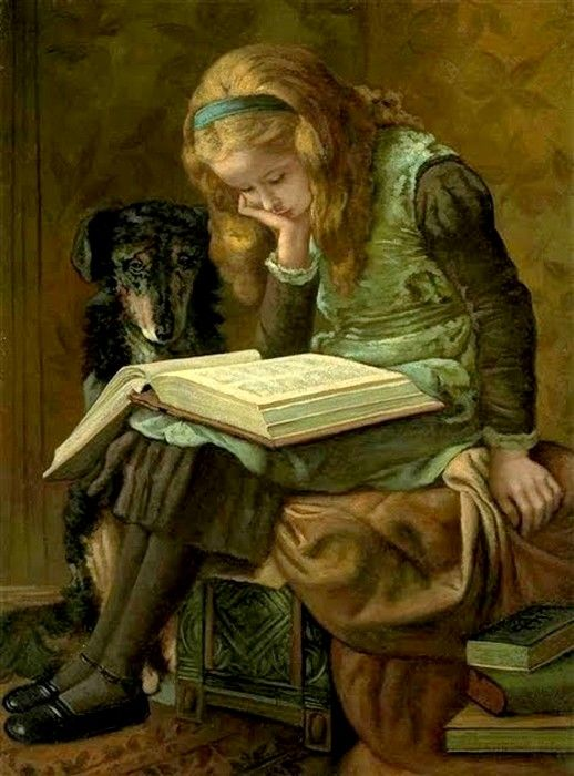 Charles, James (1851-1906)  —  Reading (518x700)