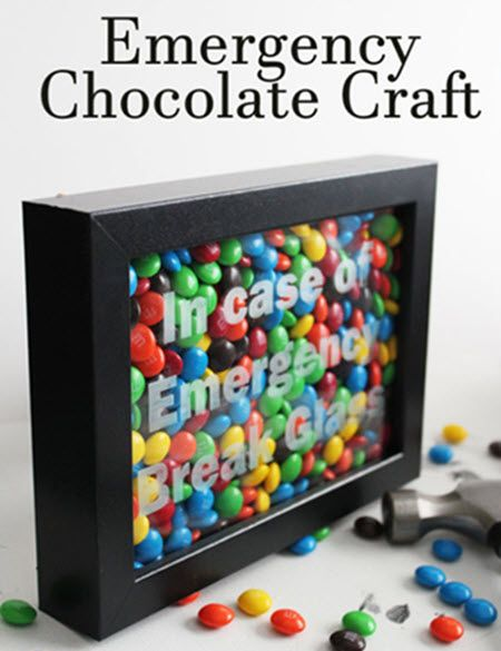 Chocolate Emergency Kit – In Case Of Emergency Break Glass | http://diygiftworld.com/chocolate-emergency-kit/