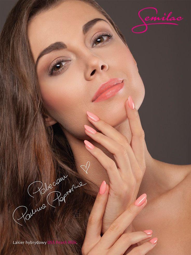 Aktywuj wiosnę z pastelami Semilac #Semilac #054 #PeachMilk #Nails #inspirations