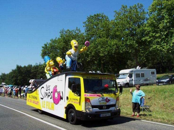 Tour de France - Caravane PUB Les SIMPSON