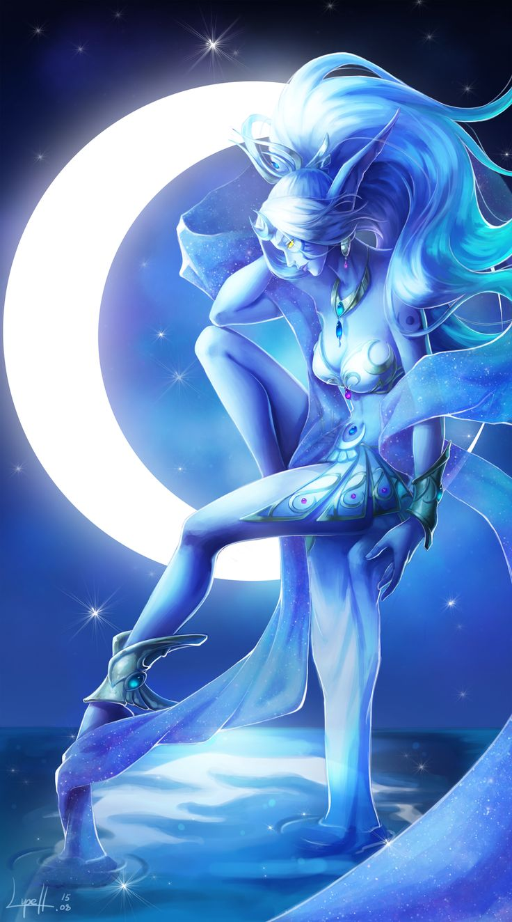 Elune the Moon Goddess by Blackfang9.deviantart.com on @DeviantArt