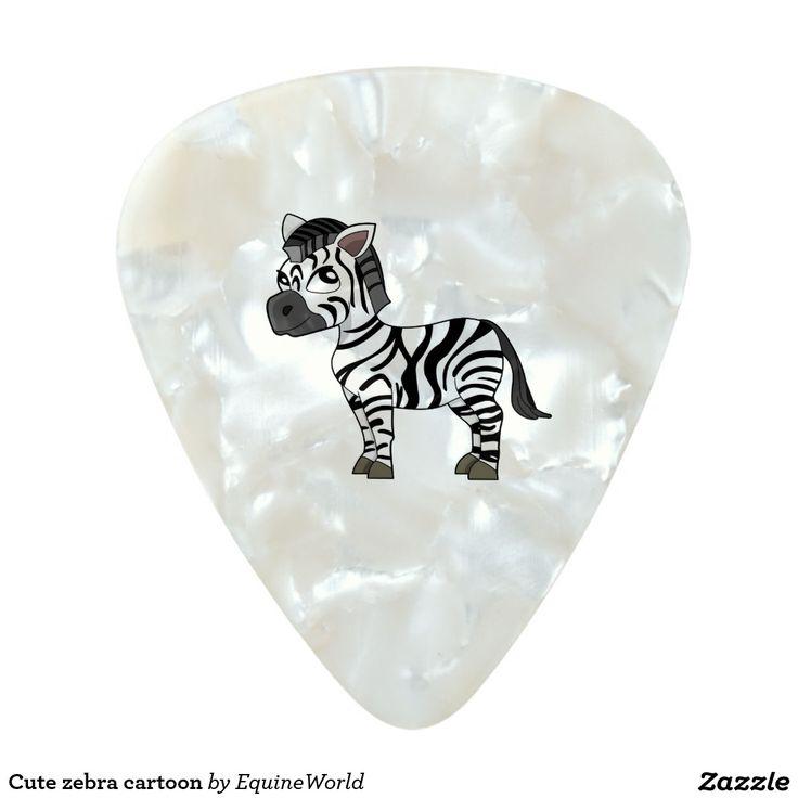 Cute zebra cartoon pearl celluloid guitar pick