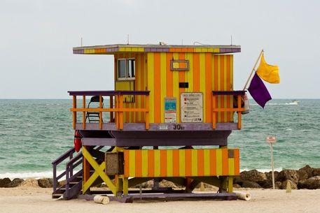 'Bay Watch - South Beach (Miami)' by Pier Giorgio  Mariani on artflakes.com as poster or art print $16.63 #miami #southbeach #baywatch